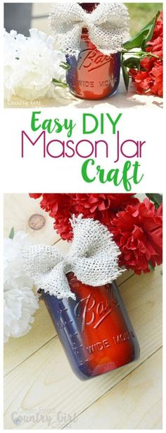 Easy DIY Painted Mason Jar Center Piece