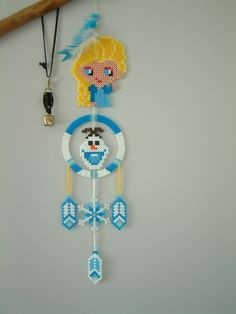 Frozen dreamcatcher hama beads by loulou0405