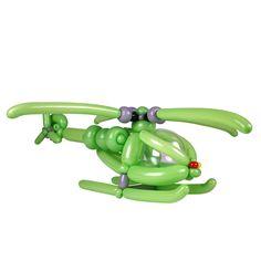 Lime Green Entries 3rd Place Balloon Helicopter  Pieter van Engen  Voorschoten, Netherlands