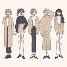 Cartoon Outfits, Anime Outfits, Fashion Design Drawings, Fashion Sketches, Cute Illustration, Illustration Fashion, Character Art, Character Design, Cute Art Styles