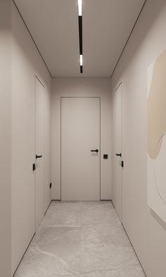Home Room Design, Bathroom Interior Design, Interior Decorating, Minimalist Interior, Modern Interior, Interior Architecture, Light Luz, Minimal House Design, Corridor Design