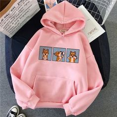 Shiba Inu Hoodie – Accessories and All Baggy Clothes, Pet Clothes, Shiba Inu, Funny Hoodies, Sweatshirts, Harajuku, Boy Outfits, Cute Outfits, Cute Korean