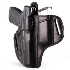 Order the OWB leather holster with extra magazine. The safety and security of Kydex with the comfort and durability of premium leather. Open Carry, Carry On, Urban Carry, North American Arms, Paddle Holster, Best Concealed Carry, Shooting Gear, Leather Holster, Firearms