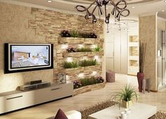🌟 💖 🌟 💖 samples of decoration wall stone for living room Living Room Tv Unit Designs, Living Room Styles, Interior Design Living Room, Living Room Decor, Living Area, Room Partition Designs, Tv Wall Decor, Living Room Background, Decoration