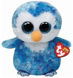 """Ty ICE CUBE the Sparkly Blue Penguin- A Beanie Boos Stuffed Plush 5"""" MWMT- NEW~~ #TY"""