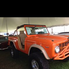 Bronco!! How fun! I'd totally rock this car...with my kids in tow! ;)