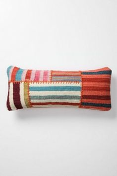 Banded Dhurrie Cushion, Rectangle | Anthropologie.eu