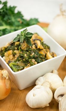 Kale and Mushroom Stroganoff #recipe #blendtec #vegan