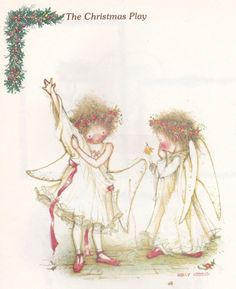 Holly Hobbie was around when I was a little girl. (I remember having a gazebo playset with Holly Hobbie dolls. Sarah Kay, Christmas Poems, Christmas Art, Vintage Christmas, Christmas Vases, Christmas Blessings, Holly Hobbie, Toot & Puddle, Victorian Pictures