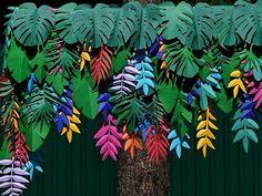 Juicy jungles ✂️ z Jungle Party, Safari Party, Party Decoration, Paper Decorations, Paper Leaves, Paper Flowers, Diy Paper, Paper Art, Paper Plants
