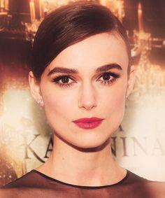 big eyebrows + big lashes + red lips / Keira Knightley in Anna Karenina. Love her eyebrows:)