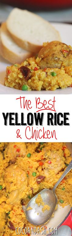 This yellow rice is THE BEST yellow rice ever!! Authentic Cuban Recipe. So flavorful and moist too!! I make this all the time! :)
