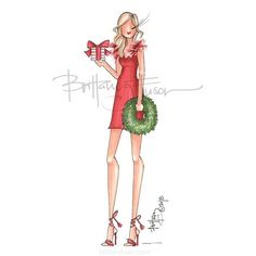 We hope you've spent the day recovering from Black Friday! There's still time to get out and support your local small businesses by… Fashion Illustration Sketches, Fashion Sketches, Illustration Art, Fashion Drawings, Christmas Fashion, Christmas Art, Ballet Fashion, Fashion Art, Megan Hess