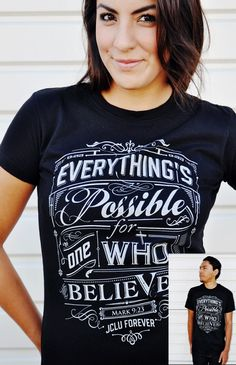 094-EVERYTHINGS POSSIBLE-BLACK by JCLU Forever Christian t-shirts