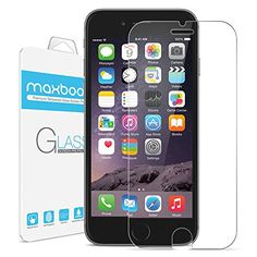 awesome iPhone 6 Screen Protector, Maxboost®  0.2mm Ballistic Glass iPhone 6 Glass Screen Protector Work with iPhone 6 and Protective Case