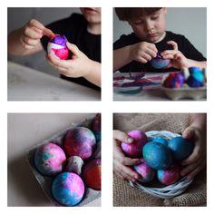 Easter eggs. Easy for kids.