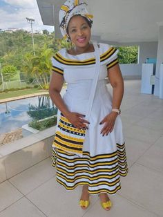Pedi Traditional Attire, Sepedi Traditional Dresses, South African Traditional Dresses, Traditional Fashion, Short African Dresses, Latest African Fashion Dresses, African Print Fashion, Ankara Fashion, Africa Fashion