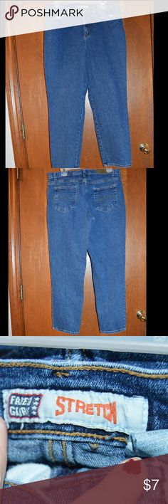 """Faded glory jeans Faded glory stretch jeans. 18 petite. 98% cotton, 2% spandex, good condition! No holes. Inseam measured at 27"""". NO TRADES!  #190 Jeans"""