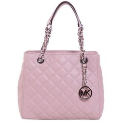 MICHAEL Michael Kors Totes ($315) ❤ liked on Polyvore featuring bags, handbags, tote bags, cipria, leather tote purse, handbags totes, leather purse, pink leather tote e leather tote bags