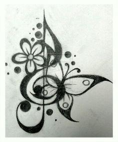 Treble clef tattoo