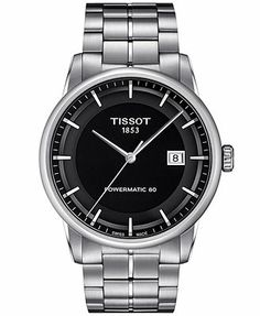 Tissot Watch, Men's Swiss Automatic Luxury Stainless Steel Bracelet 41mm T0864071105100