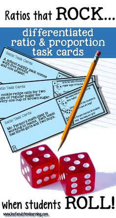 Ratio and Proportion Math Center | Task Cards | Real world problem solving
