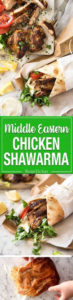 The flavour of this Chicken Shawarma marinade is absolutely incredible, yet made with just a handful of everyday spices. http://www.recipetineats.com