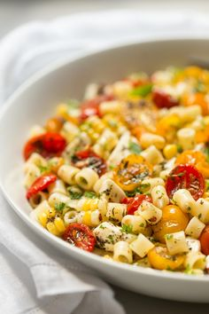 """Roasted Tomato and Fresh Mozzarella Pasta - if this delicious pasta could talk, it would be shouting """"summer""""! All of the season's best flavors in one bowl!"""