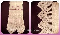 Coisas de Ada: Barradinho em crochê para toalha de lavabo By Ada