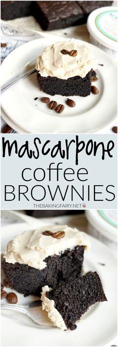 mascarpone coffee brownies   The Baking Fairy