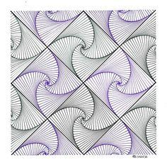 #pattern #symmetry #geometry #mathart #escher #tessellation #tiling #handmade…