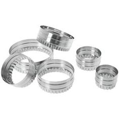 Looking for pastry cutters that are double-sided? Food Cutter, Bakers Kitchen, Wedding Rings, Engagement Rings, Metal, Design, Enagement Rings, Metals