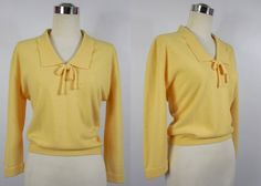 1950's Vintage Canary yellow Pullover Sweater by vintagebluemoon, $110.00