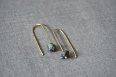 Gold or silver arc earring / Horseshoe earring by OneWorldTwoHands