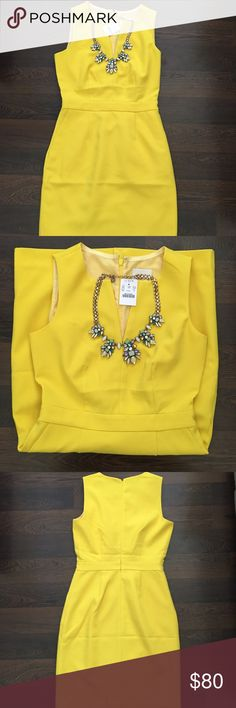 NWT J Crew Bright Yellow Dress NWT J crew bright yellow dress. Size 0. True to J Crew sizing. Perfect dress for spring and summer! Great length to wear to the office or a wedding! J. Crew Dresses