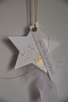 de – Sylvia Held: Sternanhänger … - My Weihnachten Noel Christmas, Winter Christmas, Handmade Christmas, Holiday, Clay Christmas Decorations, Xmas Crafts, Christmas Ornaments, Paper Crafts, Navidad Diy