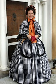 """Adventures of a Costumer: Welbourne 1863: Plaid Wool Dress  The words """"plaid"""" and """"wool"""" and """"dress"""" just ended up in the same sentence. Oh my."""