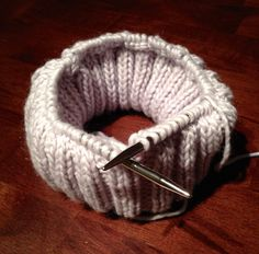 How to knit a double brimmed hat