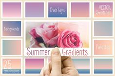 Summer gradients by Polar Vectors on @creativemarket