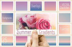 Summer gradients by Polar Vectors on @creativemarket