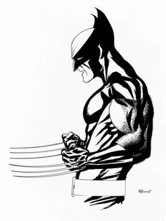 Wolverine by Mike McKone....I love his face/mouth