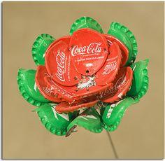 flores de chapas de botellas.19bis.com