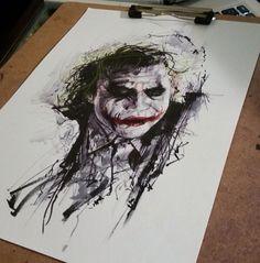 #coringa #joker #polkatrash Batman Tattoo, Joker Tattoos, Heath Ledger Joker Quotes, Joker Painting, Batman Christian Bale, Tattoo Trash, Trash Polka, Joker Art, Facebook Profile Picture