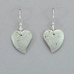 Holly Yashi Healing Heart Earrings - Silver