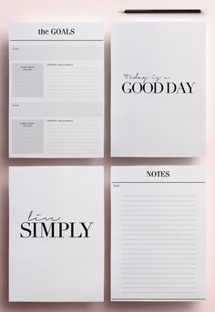 Minimal Planner Agenda Inserts - 20 Printable Planners: Blank Calendar PDF, Weekly Schedule, Daily To Do List, DIY Planner, Black & White - Get organized in style with this modern Printable Planner. This planning kit will fulfil all your p - Planner 2018, To Do Planner, Daily Planner Pages, Daily Planner Printable, Goals Planner, Monthly Planner, Daily Planners, Agenda Printable, Time Planner