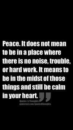 Inner peace is stronger than any outer force
