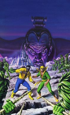 """travisellisor: """" the cover to Power Man and Iron Fist (1978) #75 by Bob Larkin """""""