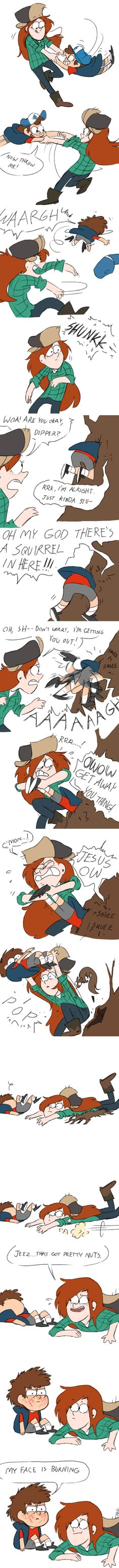 Gravity Falls Funny, Gravity Falls Dipper, Gravity Falls Fan Art, Gravity Falls Comics, Epic Fail Pictures, Fall Pictures, Dipper And Wendy, Dipcifica, Reverse Falls