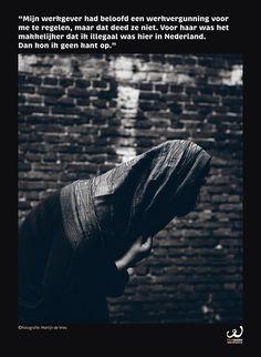 Moderne slavernij, dichterbij dan je denkt. Onderdeel van een expositie van FairWork over slavernij vroeger en nu. Fotografie © Martijn de Vries