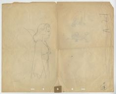 This is a very rare, original production drawing from the Walt Disney Studios production of Pinocchio (1940). This production drawing features the Blue Fairy and was created at the studio and used during the production of the film.   Pinocchio Production Drawing - ID: febpinocchio17190 | Van Eaton Galleries